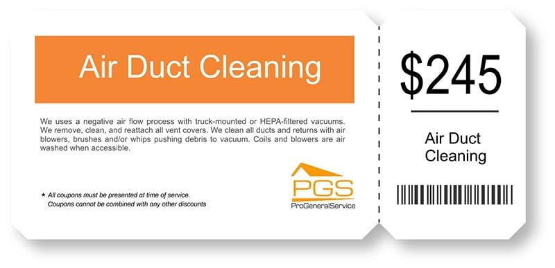 air duct cleaning coupon - PGS