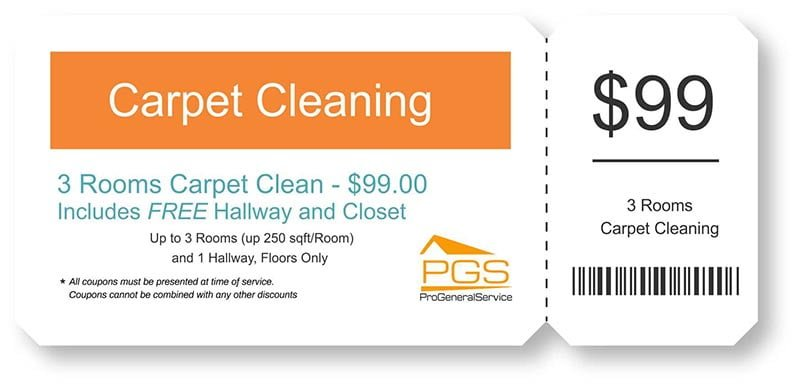 carpet cleaning coupon 3 rooms - PGS