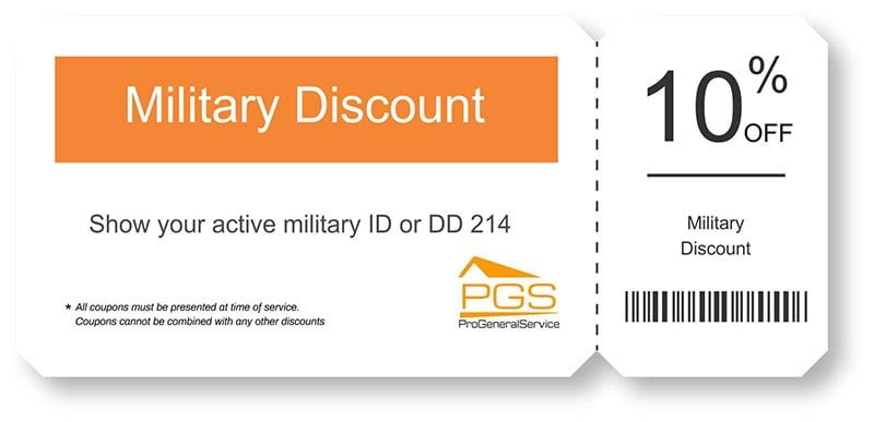 military discount PGS